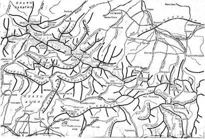 Орографическая схема Центрального Кавказа