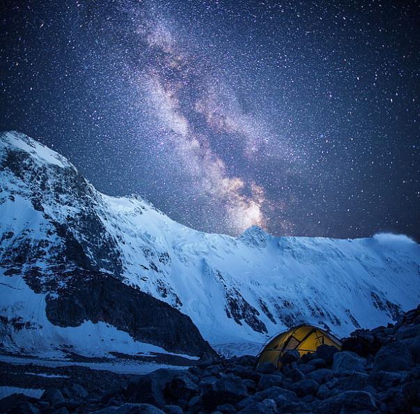 Ночь в палатке на высоте около 3500 м